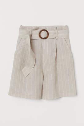H&M Lyocell-blend Shorts - Beige