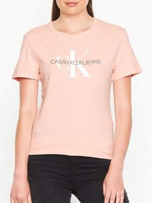 Calvin Klein Monogram Logo Regular Fit T-Shirt