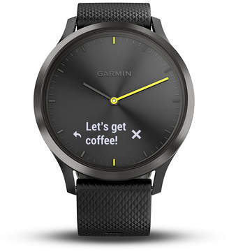 Garmin Vivomove Hr Unisex Black Smart Watch-0100185011jcp