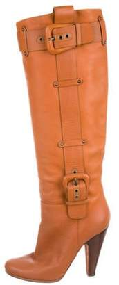 Giuseppe Zanotti Leather Knee-High Boots brown Leather Knee-High Boots