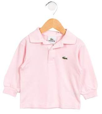 Lacoste Girls' Long Sleeve Polo Top