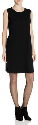 Eileen Fisher Front Overlay Shift Dress $178 thestylecure.com