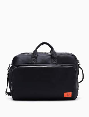 Calvin Klein monogram logo nylon convertible travel bag