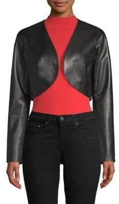 Milly Leather Bolero Jacket
