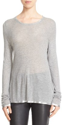 Women's Zadig & Voltaire Willy Foil Tee $108 thestylecure.com