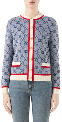 Gucci GG Wool-Knit Cardigan