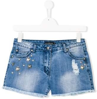 John Richmond Kids embellished denim shorts