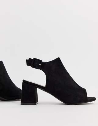 Glamorous black open shoe boots