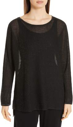 Eileen Fisher Metallic Sheer Tunic