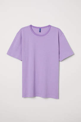 H&M Striped T-shirt - Purple
