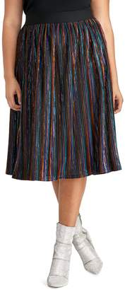 Rachel Roy Plus Madina Striped Skirt