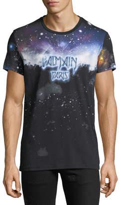 Balmain Men's Galaxy-Print T-Shirt