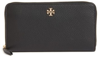 Women's Tory Burch Frida Zip Around Leather Wallet - Black $198 thestylecure.com