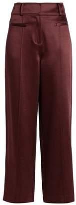 Diane von Furstenberg Satin Wide-Leg Pants