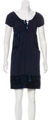 Anna Sui Velvet Accent Mini Dress