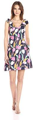 Donna Morgan Women's Tulip Print Dress