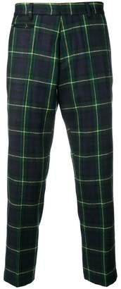 R 13 cropped tartan trousers
