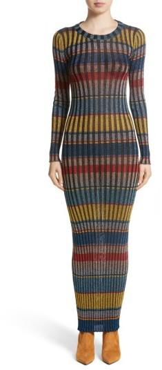 Women's Missoni Metallic Stripe Knit Maxi Dress
