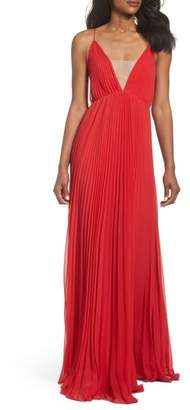 Jill Stuart Pleated Empire Waist Gown