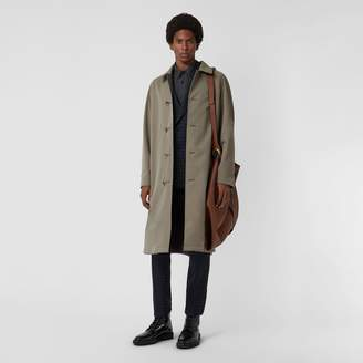 Burberry Reversible Tropical Gabardine and Wool Car Coat , Size: 50, Green