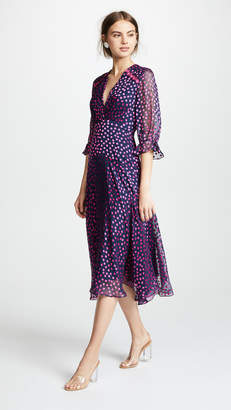 Moon River Floral Stripe Shirt Dress