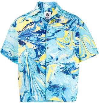 Domenico Formichetti Rorshach marbled paint shirt