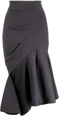 Maticevski ruffled asymmetric hem skirt