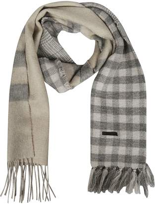 Franco Ferrari Plaid Pattern Scarf