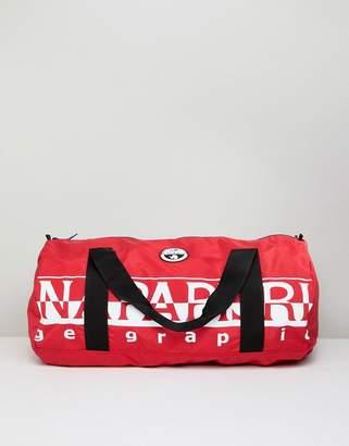 Napapijri Bering 1 packable duffle bag in red