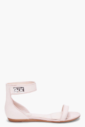 GIVENCHY Nude Virginia Shark Tooth Sandals