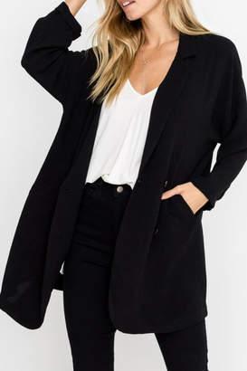 Lush Oversized Blazer, Black