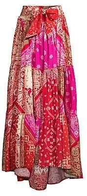 Polo Ralph Lauren Women's Cotton Patchwork Peasant Skirt