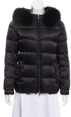 Prada Sport Fur-Trimmed Down Jacket