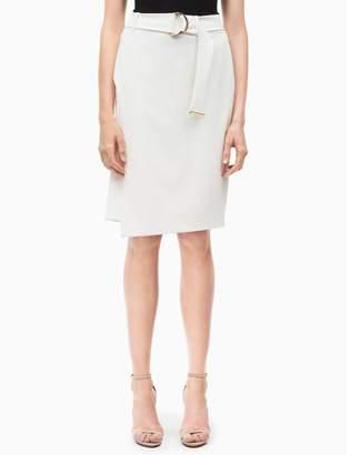 Calvin Klein luxe buckle wrap skirt