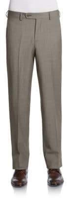 Saks Fifth Avenue BLACK Melange Wool Trousers