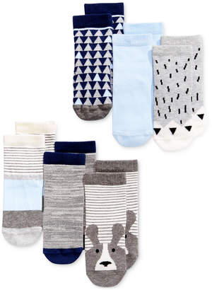 First Impressions 6-Pk. Crew Socks, Baby Boys, Created for Macy's