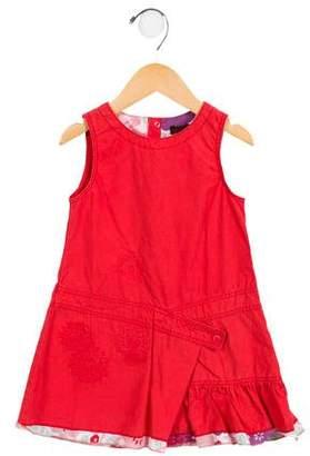 Catimini Girls' Embroidered Poplin Dress