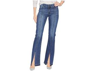 Liverpool Lucy Boot Split Stitch in Super Comfort Stretch Denim Jeans in Montauk Mid Blue