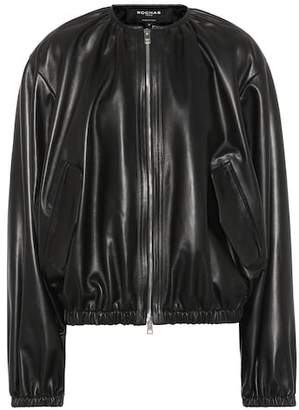 Rochas Leather bomber jacket