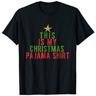 This Is My Christmas Pajama Shirt Funny T Shirt