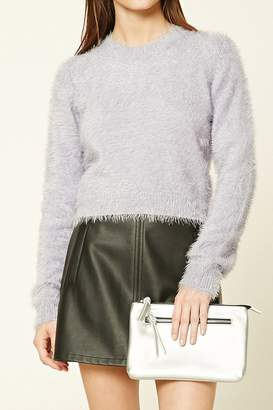 Forever 21 Faux Leather Zipper Clutch
