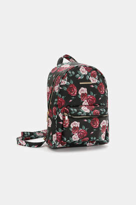 Ardene Floral Mini Faux Leather Backpack