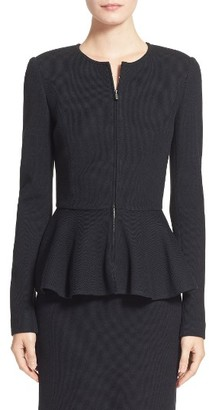 Women's St. John Collection Pique Milano Knit Jacket $1,295 thestylecure.com