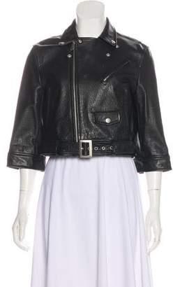 AR+ AR Cropped Leather Jacket
