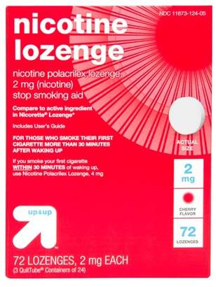 Nicorette Up&Up Nicotine 2mg Lozenge Stop Smoking Aid - Sugar Free Cherry - 72ct - Up&Up (Compare to active ingredient in Lozenge)