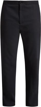 ACNE STUDIOS Pace drawstring-hem straight-leg wool trousers $310 thestylecure.com