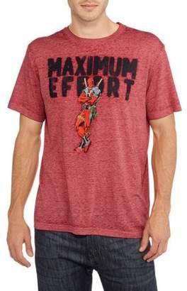 Super Heroes Marvel Deadpool Men's Maximum Effort Graphic T-shirt