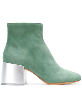 MM6 MAISON MARGIELA metallic heel boots