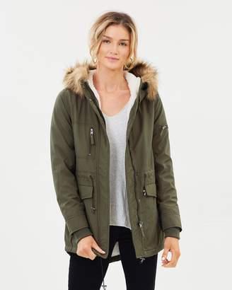 DECJUBA Maddie Faux Fur Lined Jacket