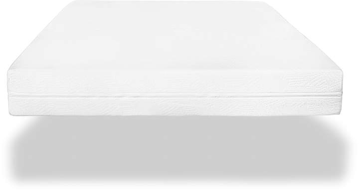 6-Inch Organic Cotton Crib and Toddler Full Mattress in White
